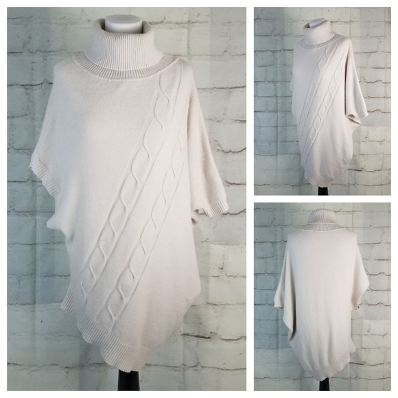 XL Asymmetrical Hem Longline Turtleneck Sweater